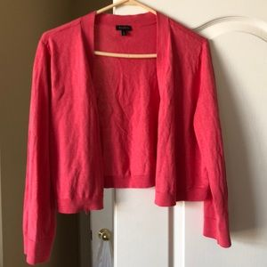 Talbots cropped open cardigan